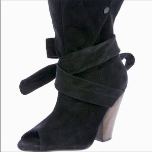 IRO Shoes - IRO Suede Peep Toe Booties
